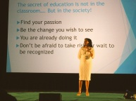 We heard an inspirational message from Jahana Hayes, 2016 National Teacher of the Year.